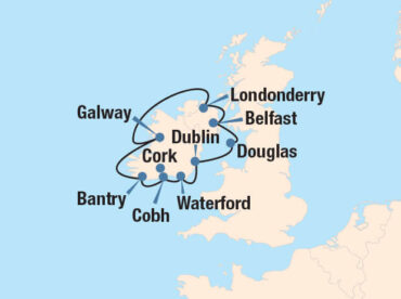 Gaelic Glory Cruise Map