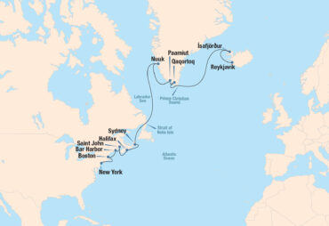 North Atlantic Quest Cruise Map