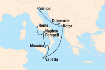 Majestic Vistas Cruise Map