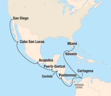 Panama to Paradise Cruise Map