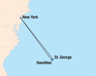 Bermuda Bliss Cruise Map