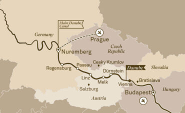 Gems of the Danube Cruise Map