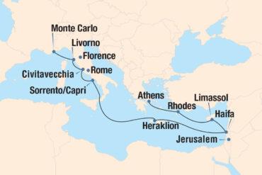 Ancient Panoramas Cruise Map