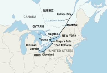 St. Lawrence Seaway Map