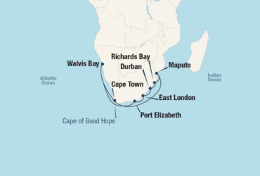 Accent on Africa Cruise Map