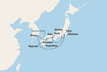 Japan in Bloom Cruise Map
