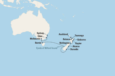 Outrageous Outback Cruise Map