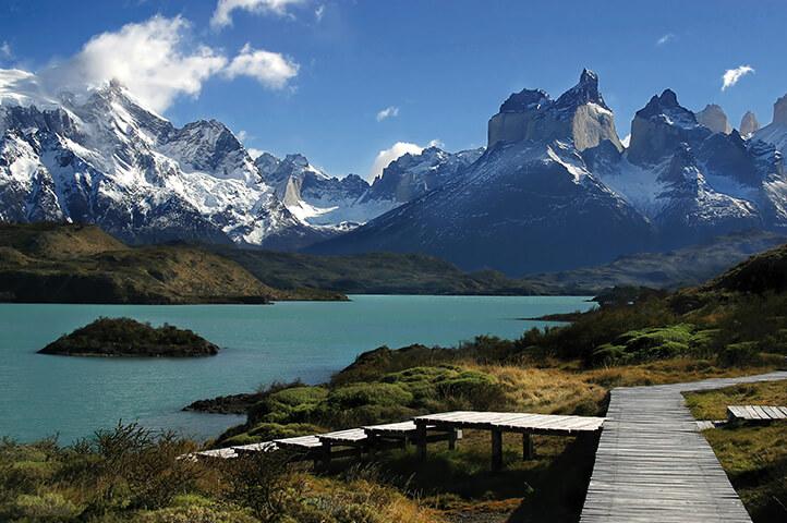 Punta-Arenas Dock and Mountain Range