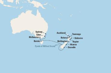 Tasman Sea Traveler Cruise Map