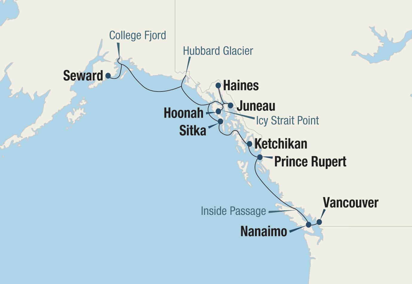 Icy Strait Point Alaska Map.Forests Fjords Of Alaska 7 30 2020 8 10 2020 Go Next